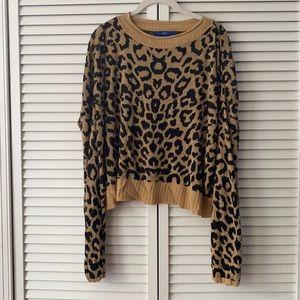 Apt 9 slouchy leopard print knit crop top